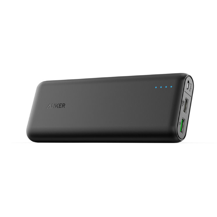 Внешний аккумулятор Anker PowerCore 20000 Quick Charge 3.0 для Samsung, iPhone, iPad, LG, Asus, Xiaomi, A1272H11 (Черный)