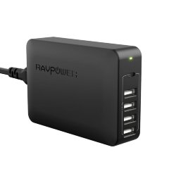 Сетевое зарядное устройство RAVPower USB C Power delivery для Macbook, iphone 12, 11, XS, 8, Samsung galaxy, xiaomi, huawei, LG, Asus, RP-PC059 (Черный цвет)