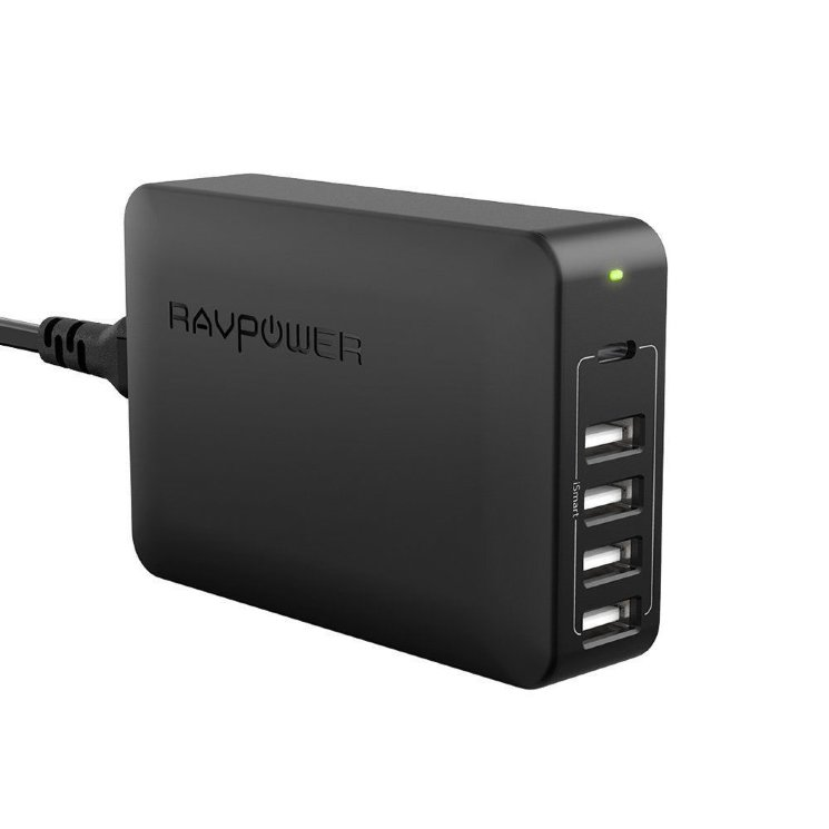 Сетевое зарядное устройство RAVPower USB C Power delivery для Macbook, iphone, samsung galaxy, xiaomi, huawei, LG, Asus, RP-PC059 (Черный цвет)
