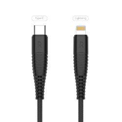 Кабель RAVPower USB-C to Lightning kevlar 1 метр для iPhone 12, XS Max, XS, XR, X, 8, 8+, RP-CB020
