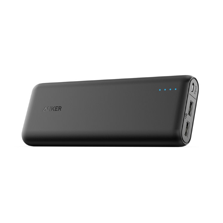 Внешний аккумулятор Anker PowerCore External Battery 15600mAh для iPhone, iPad, Samsung Galaxy, A1252G11 (Черный)