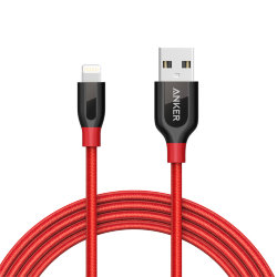 Кабель Anker PowerLine+ USB to Lightning Cable 180 см, для iPhone XS/ X / 8 / 8 Plus / 7 / 7 Plus / 6 / 6 Plus / 5S, iPad, A8122H91 (Красный цвет)