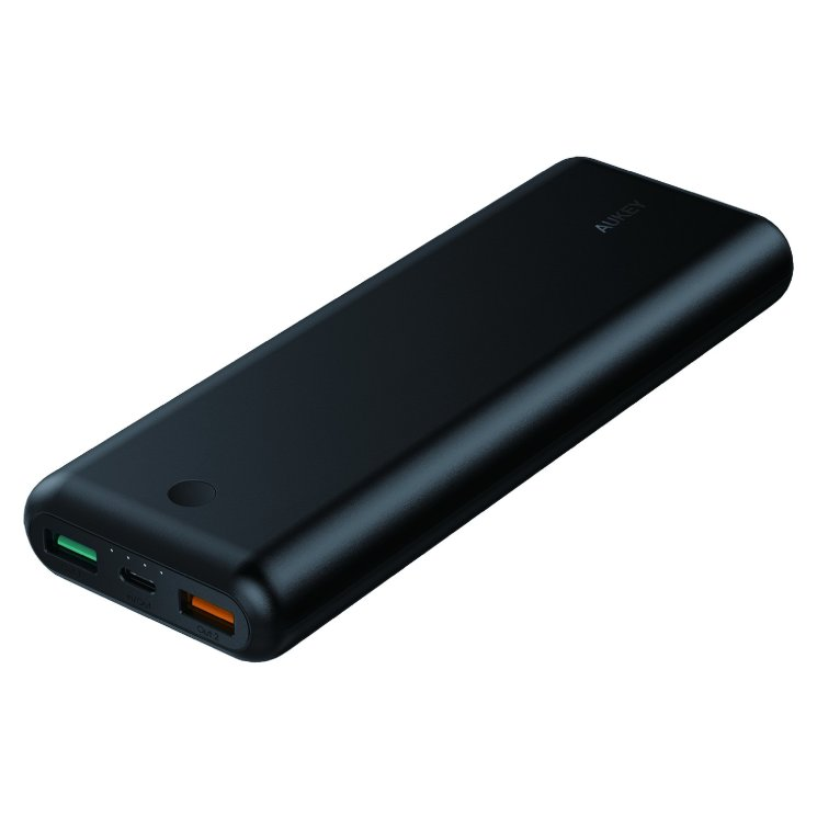 Внешний аккумулятор Aukey 20100mAh Power Delivery 2.0 USB C Power Bank With Quick Charge 3.0 для Samsung, Google, Apple, PB-Xd20 (Черный)