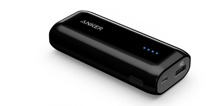 Внешний аккумулятор Anker Astro E1 6700 mAh для Apple, Samsung, Google Pixel, Xiaomi, LG, Nexus 6P, Huawei Matebook, MacBook, A1211G15 (Черный)